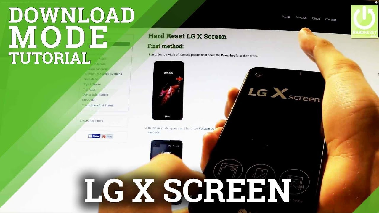 How to enter Download Mode in LG X Screen - USE and QUIT Download Mode