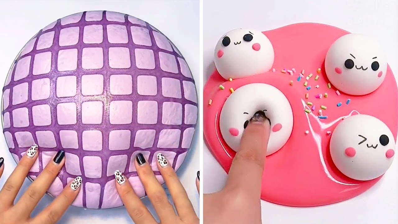 Relaxing Slime Compilation ASMR   Oddly Satisfying Video #174