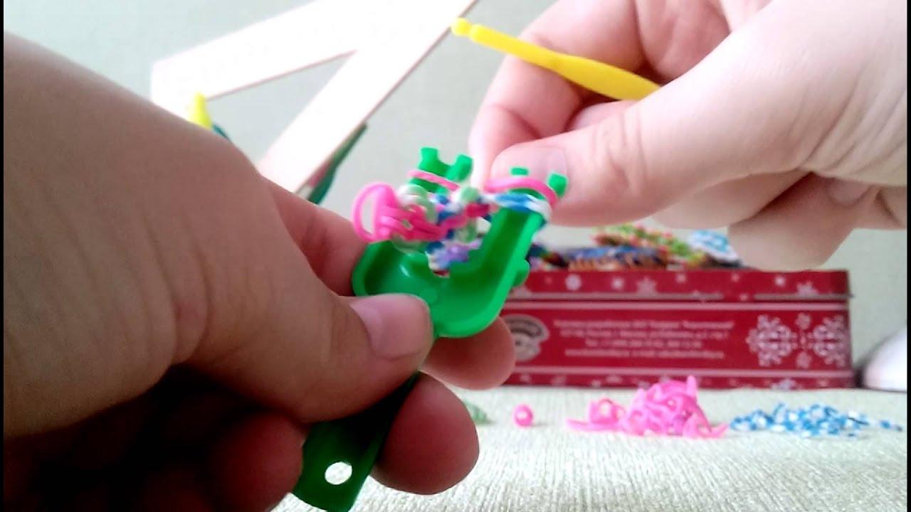 Как сплести браслет из резинок на узелках