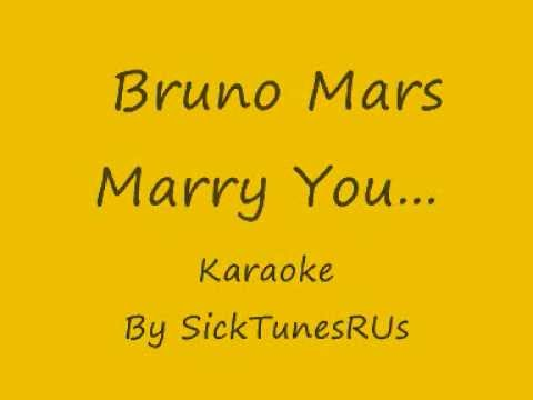 Bruno Mars - Marry You - Karaoke With Lyrics
