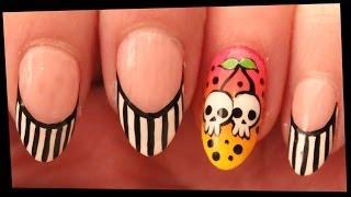 Cherry Skulls nail art