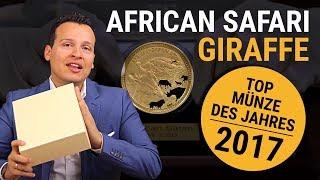 African Safari Giraffe ⭐ 5 Unzen Gold ⭐ Goldmünzen Made in Germany