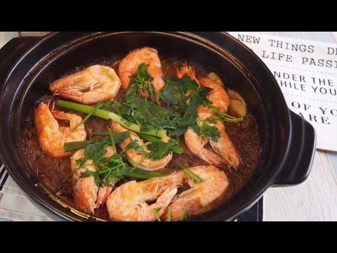 10 MIN EASY Thai Glass Noodles w/ Shrimps Recipe 泰式冬粉虾