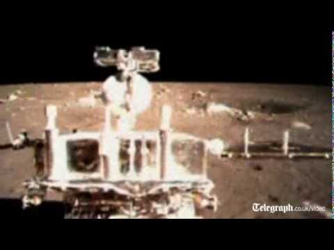 Footage released of China Jade Rabbit moon landing