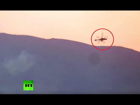 releases alleged video of helicopter downed in Syria