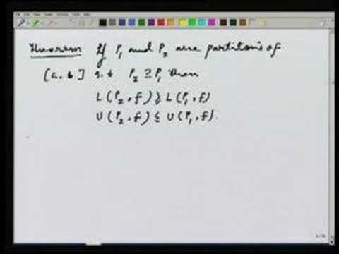 Lecture 17 - Riemann integral