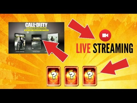 PRE- PURCHASING INFINITE WARFARE, LIVE STREAMING AND SUPPLY DROP OPENING