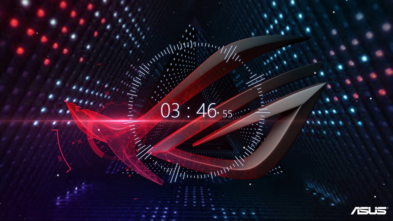 4K Wallpaper Engine with Audio Visualizer ft Asus ROG wallpaper - YouTube