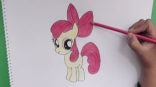 Dibujando y coloreando Apple Bloom (My Little Pony) - Drawing and coloring Apple Bloom