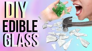 DIY EDIBLE GLASS!! | JENerationDIY