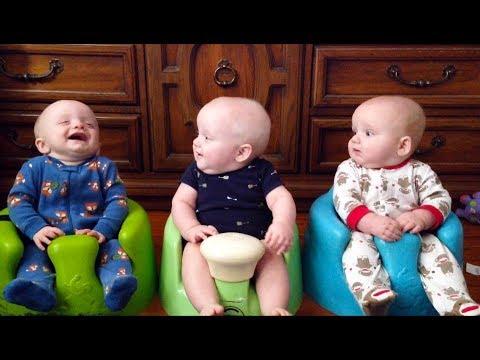 Compilation mignon de bébés de Triplet