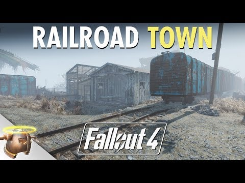 Fallout 4: Building a railroad town at Bedford Station | Ep. 3