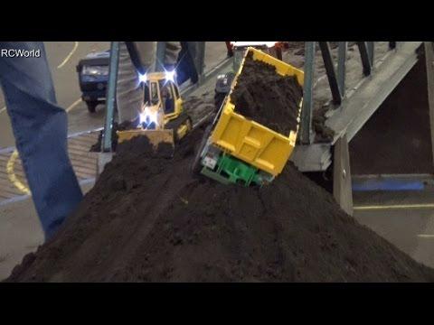RC Construction Site Nordbau AG Excavator Trucks Baustelle LKW ♦ EuroModellbau Bremen 2015