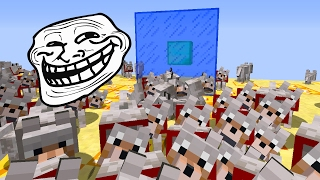 Minecraft CUBÃO : TROLLAGEM DO EXERCITO DE LOBO !!! (MINECRAFT TROLL)