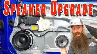 How To Replace and Upgrade Car Speakers (Remove Rivets, Custom Mounts)