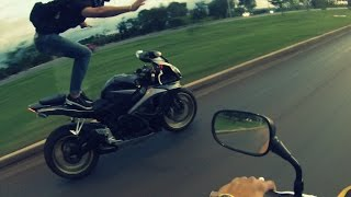 Careca BSB - Motociclista louco empinando em Brasília - Hornet ABS