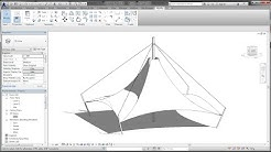 BIM - Revit Adaptive Component 04A Modeling Tensile Fabric Structure l Canopy