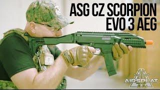 asg cz scorpion evo 3 a1 aeg airsoft smg gun airsplat on demand