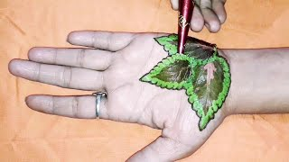 New Leaves shape Mendi design 2019 | Creation learn step by step
