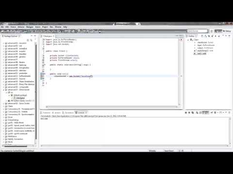 Java - Sockets (client side) Part 1 of 3