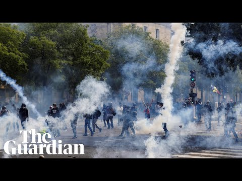 May Day: teargas and arrests in protests across Europe