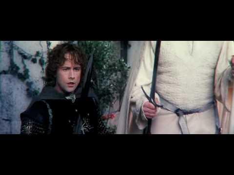 Gandalf defending Pippin