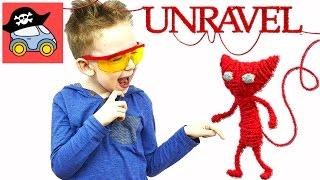 🔴 Красный котик UNRAVEL на Playstation #1 ЧЕРТОПОЛОХ и СОРНЯКИ Жестянка новые серии