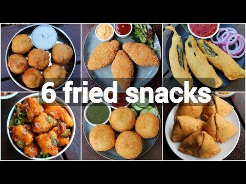 6 Fried Street Food Snacks Recipes | Quick & Easy Evening Snack Recipes