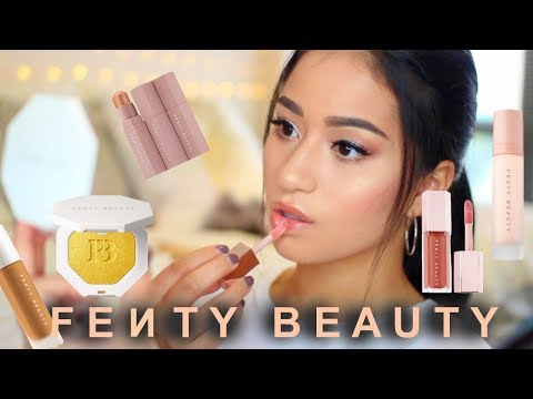 FENTY BEAUTY BY RIHANNA First Impression   & DEMO foundation swatch & more