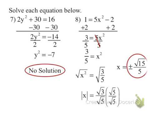 13.2 Solving quadratic using the square root method.