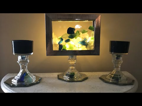 DOLLAR TREE DIY | FAUX AQUARIUM AND CANDLE HOLDERS