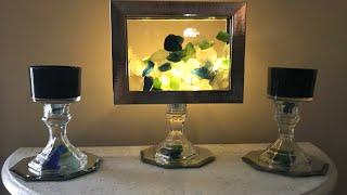 DOLLAR TREE DIY | FAUX AQUARIUM AND CANDLE HOLDERS