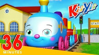 Colour Train | Plus Lots More Nursery Rhymes | 36 Minutes Compilation from KiiYii! | ABCs and 123s