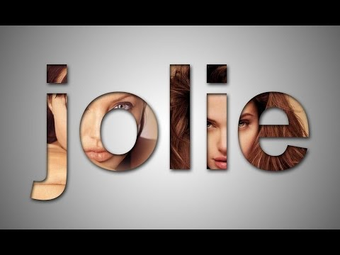 Photoshop : How to use image clipping to your own name text Effect