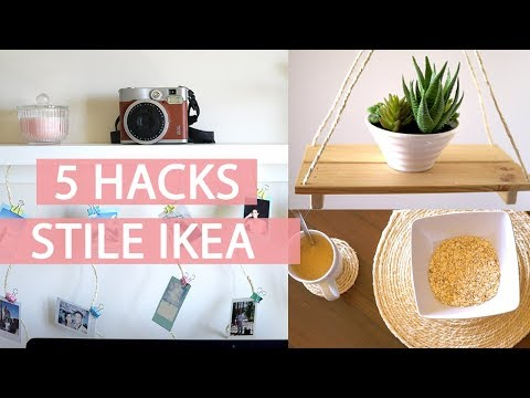 5 HACKS PER DECORARE LA CASA - 5 IDEE FAI DA TE in STILE IKEA