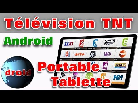Télévision sur tablette et portable android chaine france TNT WIFI.