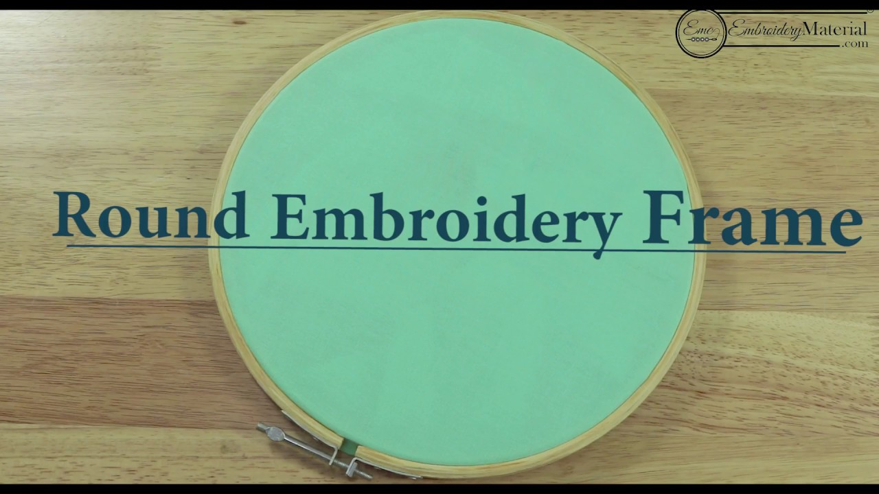 How to fix fabric in hand embroidery round wooden frame for ...
