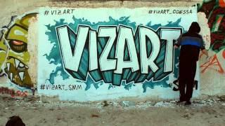 VIZART SMM Граффити(Вот видео, как мы рисовали граффити на пляже