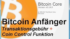 Bitcoin Wallet 0.14.0 - * Transaktionsgebühr + Coin Control Funktion*