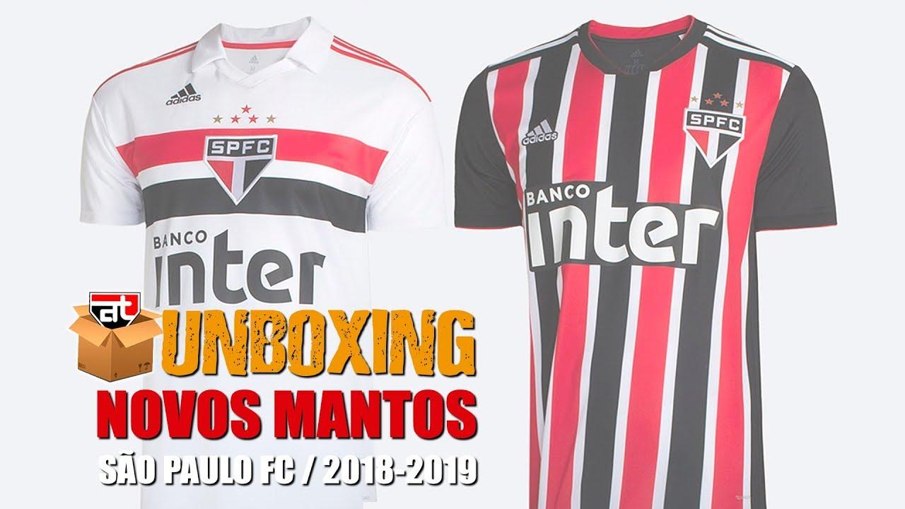 92276f315e8a5 Unboxing - Novos uniformes São Paulo FC 2018 - Adidas  fazoteu - YouTube