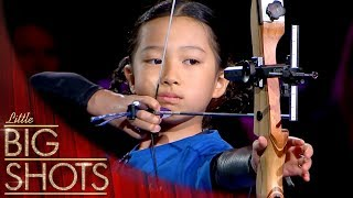 9 Year Old Future Olympian Archer! 🏹  | Little Big Shots
