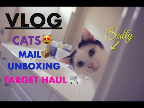 VLOG - MAIL UNBOXING, TARGET HAUL & LOTS OF CATS!