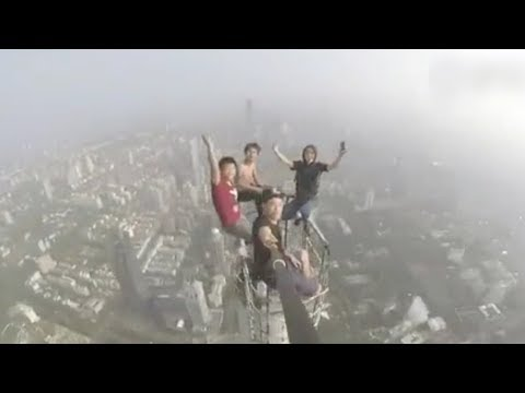 Chinese rooftopper shoots breathtaking video from world's 10th highest building