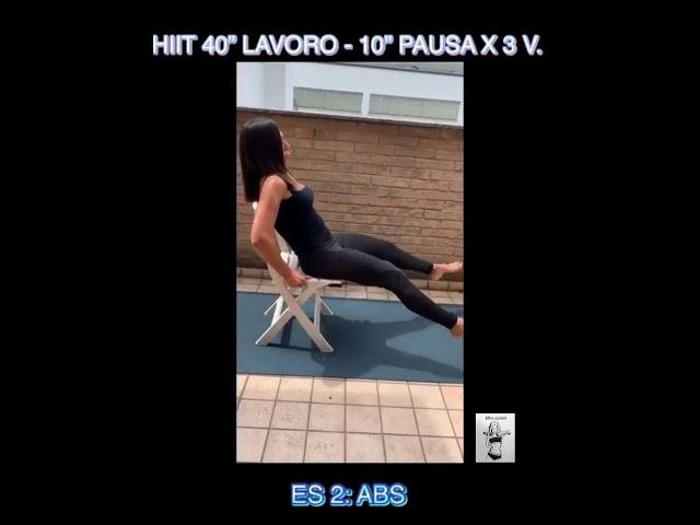 """CIRCUITO HIIT 40"""" LAVORO-10"""" PAUSA X 3 VOLTE #60"""