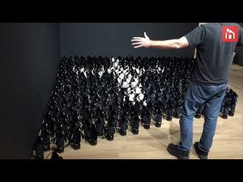 An Interactive Mirror Installation of 450 Plush Penguins Powered by Xbox Kinect