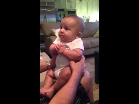 12 weeks old baby talking