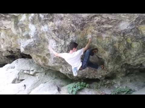 Jim Pope climbing video Bens Roof 7c+