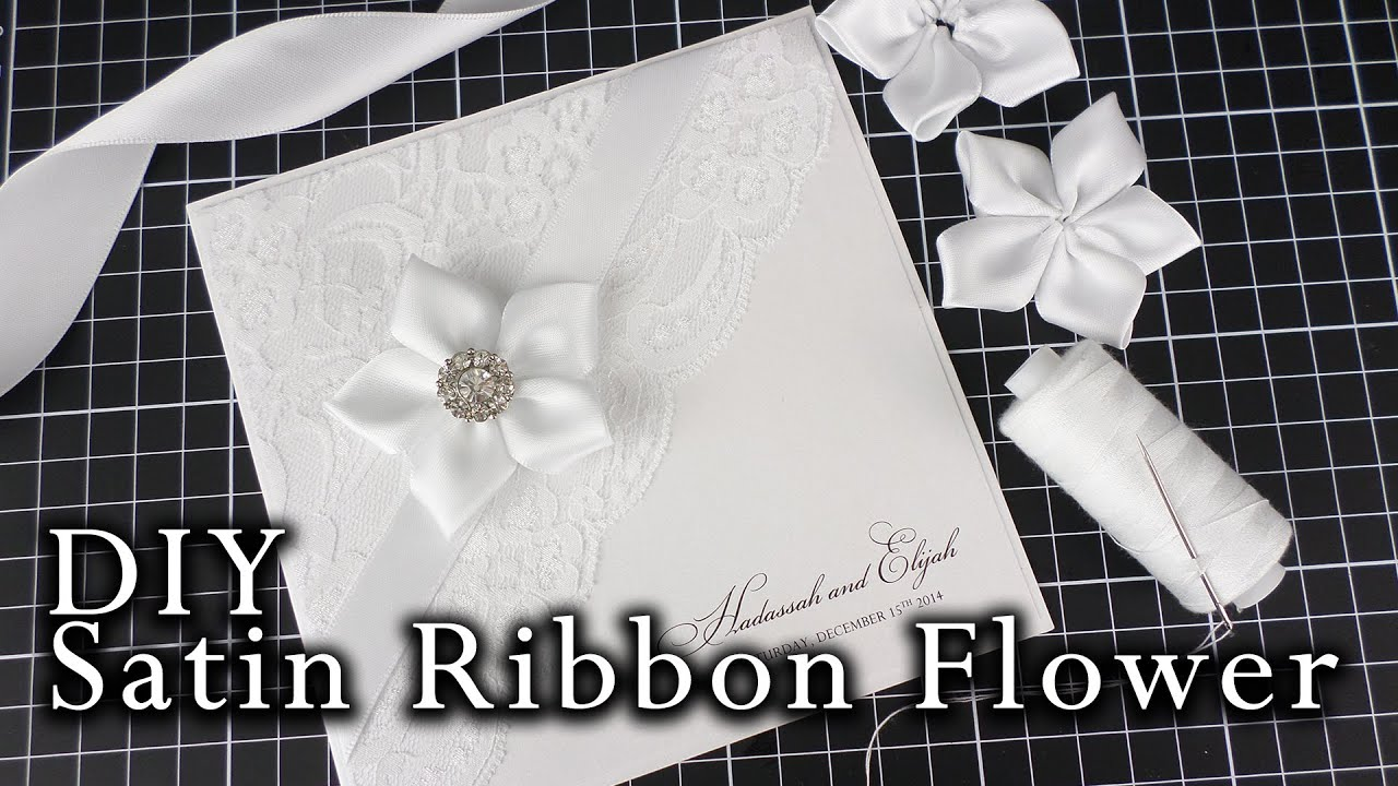 How to make a satin ribbon flower easy diy flower for wedding how to make a satin ribbon flower easy diy flower for wedding invitations diy invitation youtube solutioingenieria Image collections
