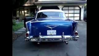 57 chevy 283 with Magnaflows