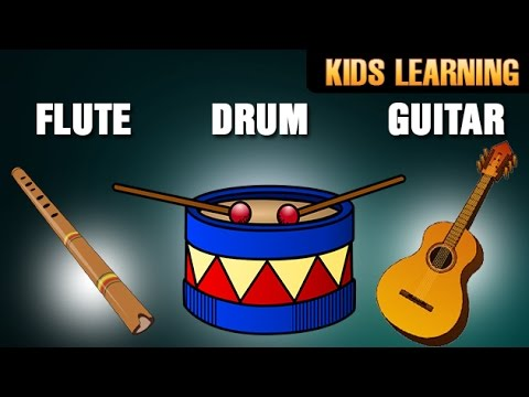 Musical Instruments And Their Names | Guitar , Drum, Flute